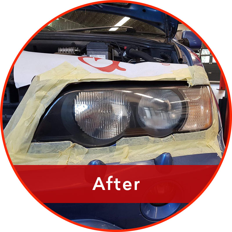 Headlight refurbishment - after