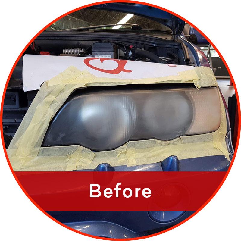 Headlight refurbishment - before